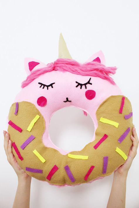 Diy Donut Kissen Mit Einhorn Motiv Selber Machen Anleitung Ohne