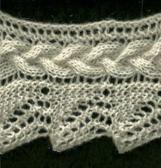 Plaited Lace Edging - Knittingfool Stitch Detail