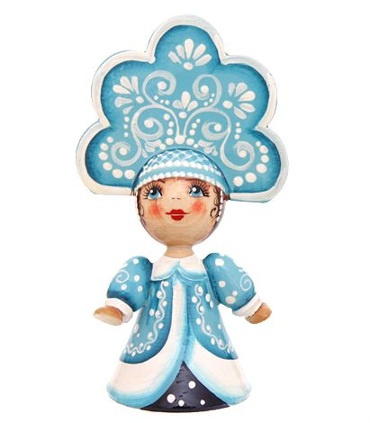 Russian wooden snow maiden