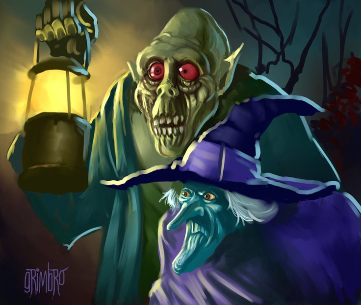 Zombie + Witch by Grimbro Scooby doo mystery