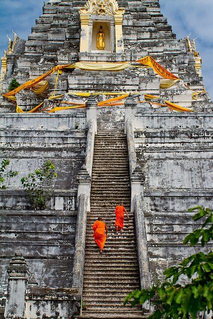 Stairway to Heaven 天國的階梯 Stairway to Heaven Wat Phu Khao Thong, Ayutthaya City, Thailand