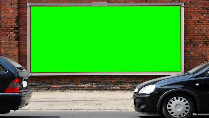public advertising sheet in green screen free stock footage