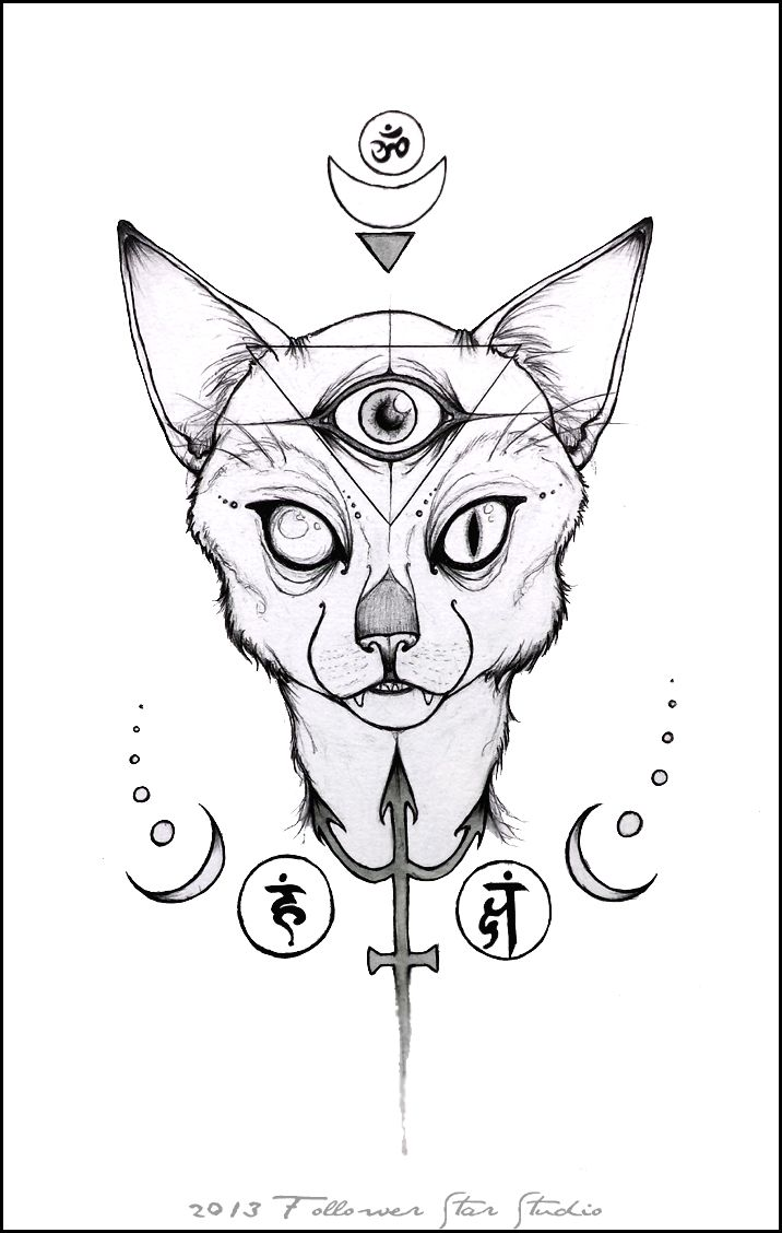 cat eye coloring pages - photo#10