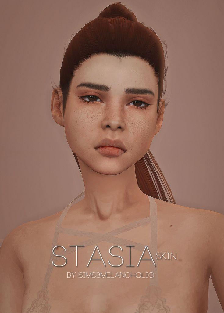 "sssvitlans: "" sims3melancholic: """" dl \ credits: salem2342 ☆ "" "" Stasia skin by sims3melancholic (Sims 4) """