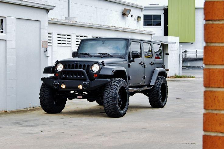 Custom Matte Black Jeep Wrangler 8 Derick G Toys