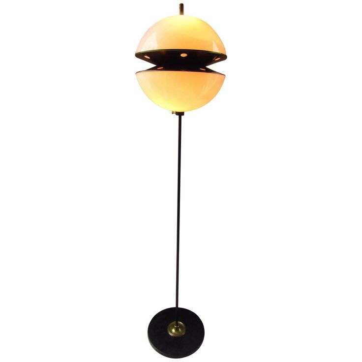 Midcentury Floor Lamp Italy 1960s Fabio Lenci for Guzzini | From a unique collection of antique and modern floor lamps at https://www.1stdibs.com/furniture/lighting/floor-lamps/