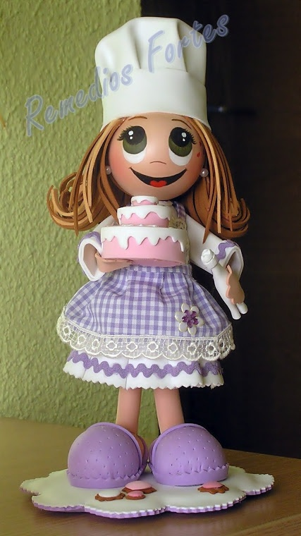 Fofucha con pastel
