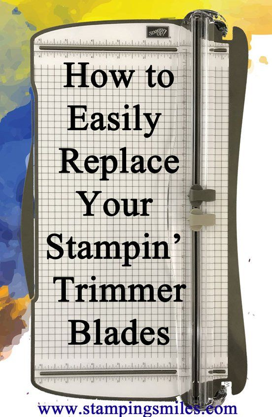 If you are stretching the plastic cutter guide to remove and replace your Stampin' Trimmer blades, this video is for you! Watch to learn how to easily replace your Stampin' Trimmer Blades.  Watch my how to easily replace your Stampin' Trimmer blades tutorial here if the video...