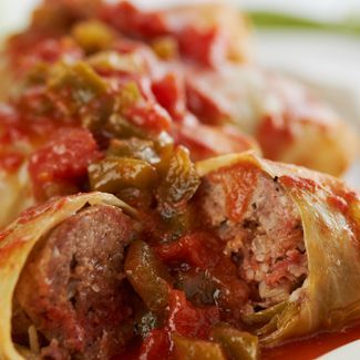 stuffed cabbage rolls from in the kitchen with david