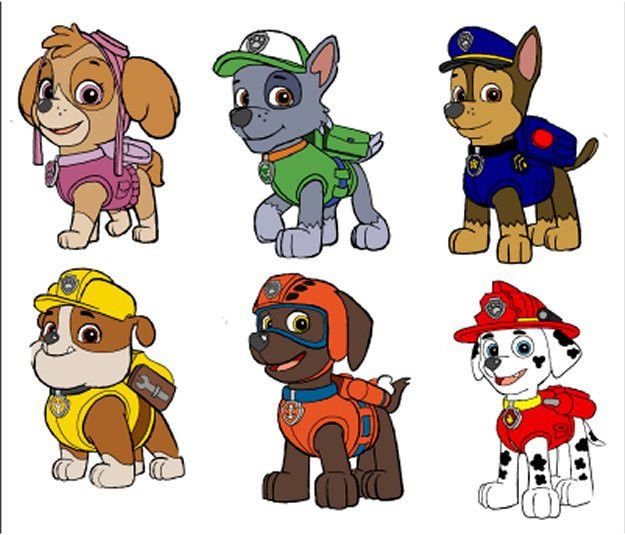 ::::::::6 PAW PATROL:::CHARACTERS:::: FABRIC/T-SHIRT IRON ON TRANSFERS in Crafts, Fabric Painting & Decorating, Fabric Transfers | eBay