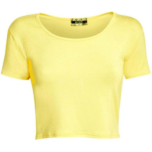 Pilot Mia Plain Cap Sleeve Crop Top (59 HRK) ❤ liked on Polyvore featuring tops, shirts, crop top, blusas, t-shirts, yellow, cap sleeve shirt, crop shirts, cap sleeve top and pilot shirt
