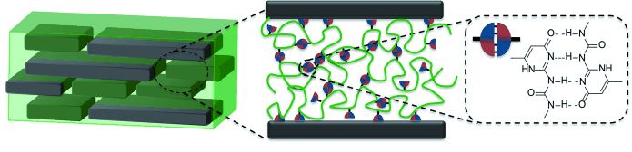 Hydrogen bonds in the polymer phase boost important properties of nacre mimetics