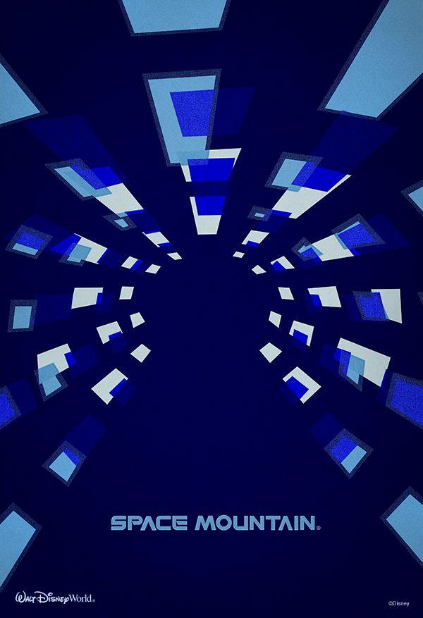 Space Mountain minimalist poster #WaltDisneyWorld