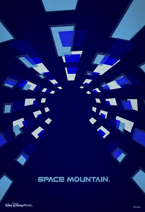 Space Mountain minimalist poster #WaltDisneyWorld
