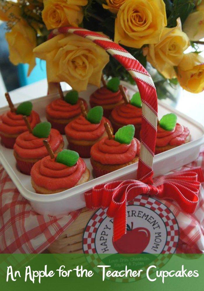 An Apple for the Teacher Cupcakes - DolledUpDesign