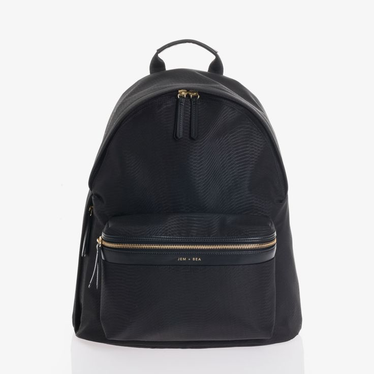 Jamie Black Python | JEM + BEA - Luxury Baby Changing Bags