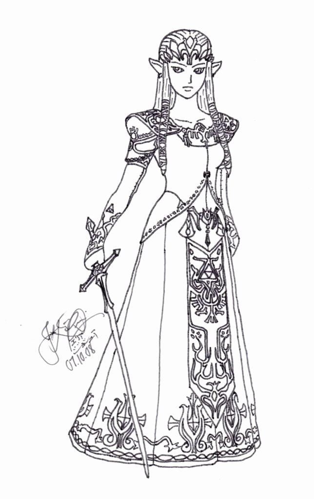 Legend Of Zelda Coloring Page Inspirational Princess Zelda Coloring Pages Photo Lineart Ze Princess Coloring Pages Mermaid Coloring Pages Mermaid Coloring Book