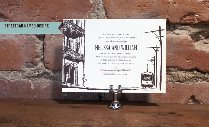 Scriptura - New Orleans Party Invitations