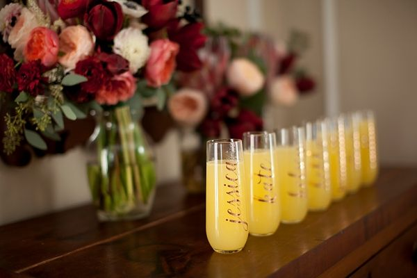 Great ideas for how to use a Cricut machine to personalize your wedding day, rehearsal dinner, and bridal shower.