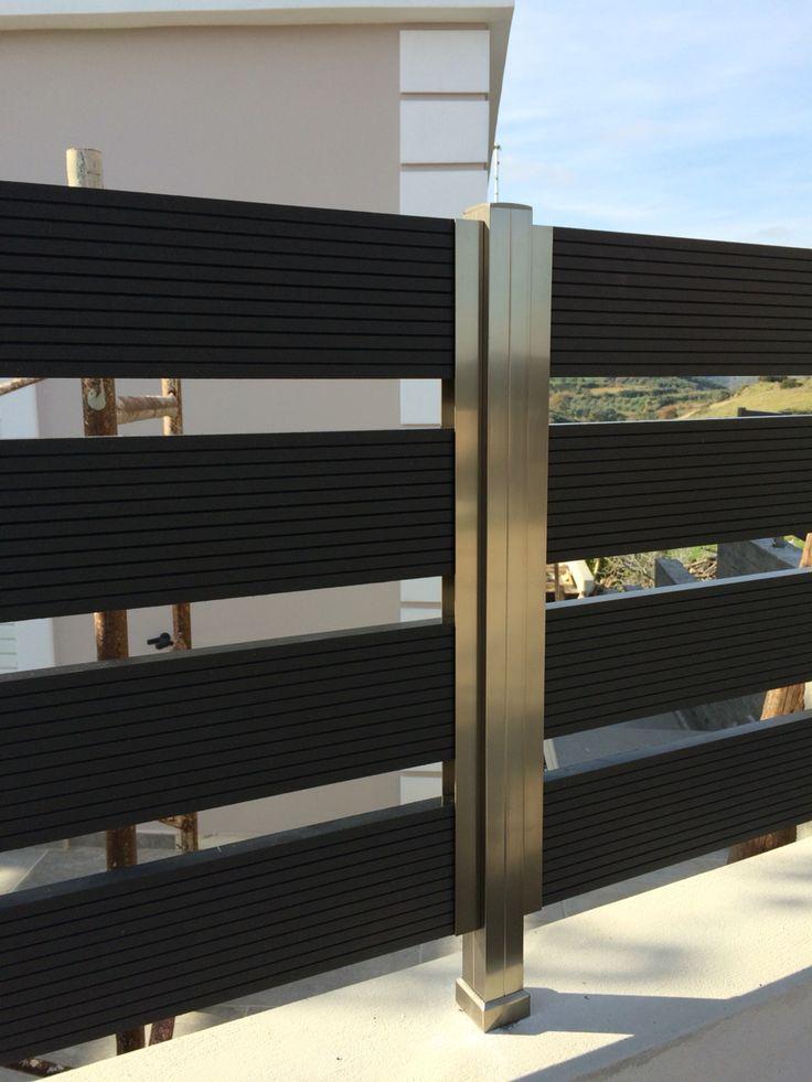 Fences with aluminium & deck http://alouminia-koufomata.gr