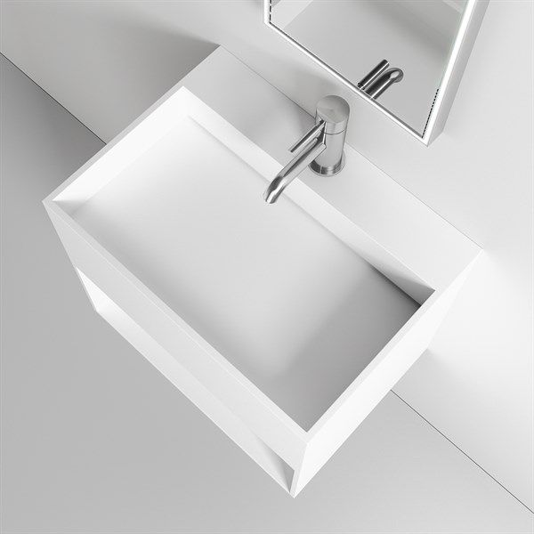 Nyt Boxo Inside 55 Farvebestandig håndvask mathvid finish, fri fragt Bad&Stil