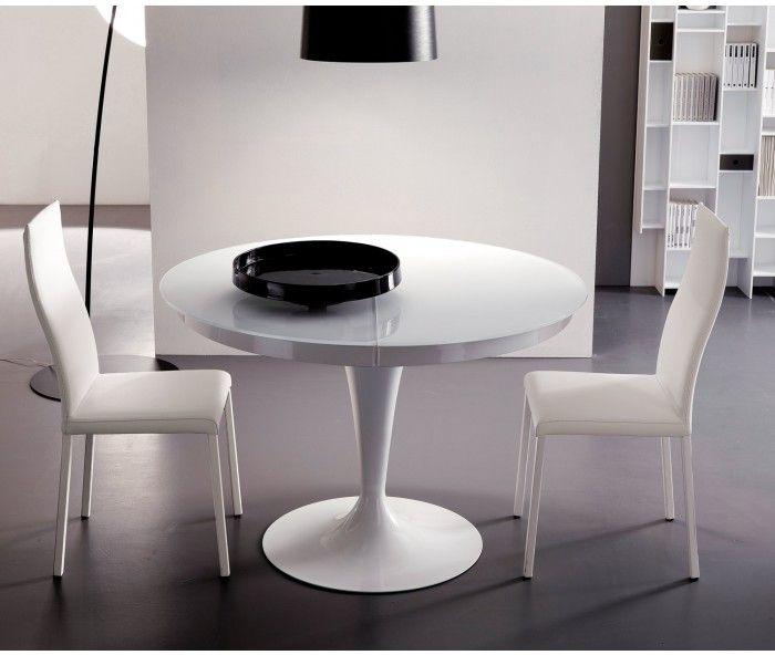 design tisch rund weiss. Black Bedroom Furniture Sets. Home Design Ideas
