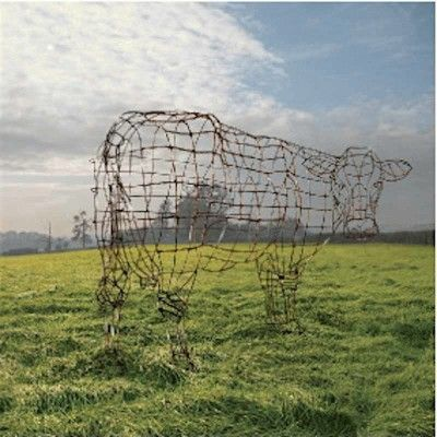 Pink Floyd, Atom Heart Mother Wire Cow by Storm Thorgerson