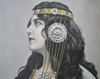 Stampa  arte cartolina francese dell'annata Steampunk