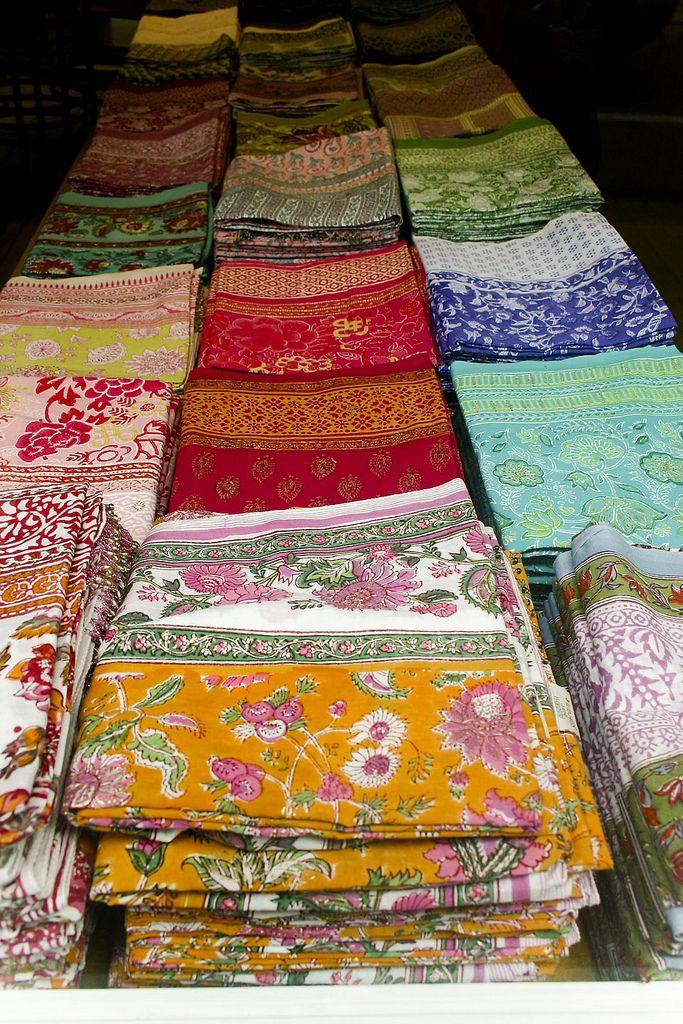 Tissues Imprimées Les Indiennes de Soleiado  et Olivades Provencal Fabrics Made in France
