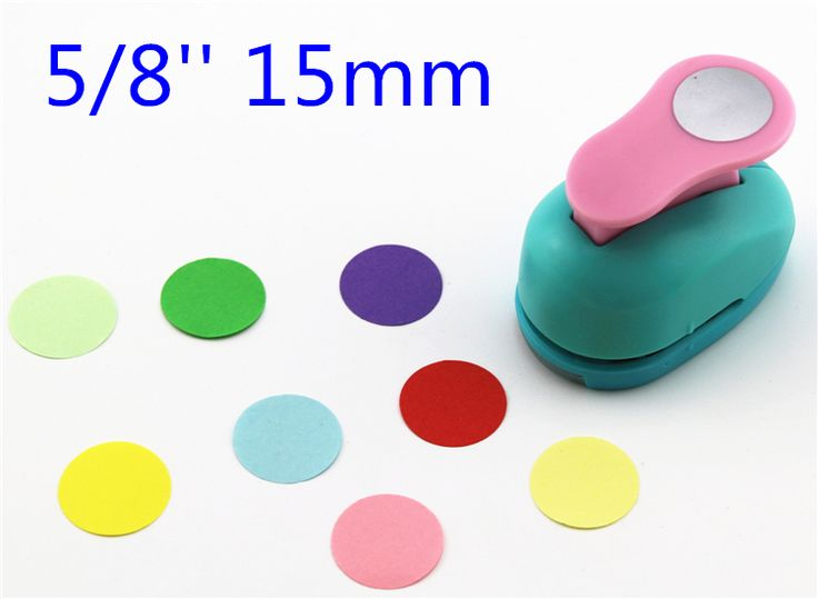 free shipping paper circle cutter 15mm 5/8'' shapes craft punch diy puncher paper cutter scrapbooking punches scrapbook S29877