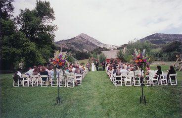 Bozeman Montana weddings Venue - Springhill Pavilion stunning outdoor wedding