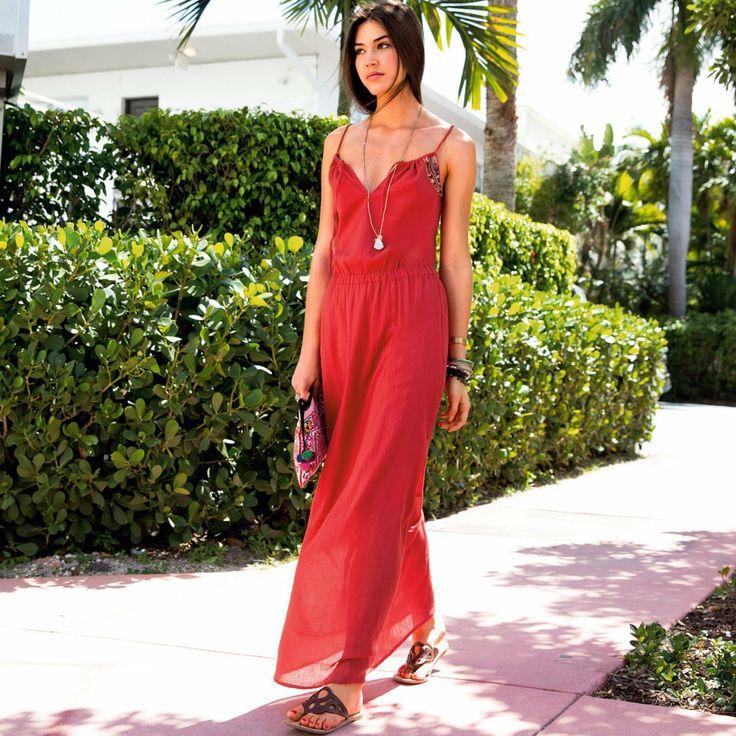 robe longue sans manche femme couleurs d 39 ete la redoute mode pinterest robes manche and. Black Bedroom Furniture Sets. Home Design Ideas