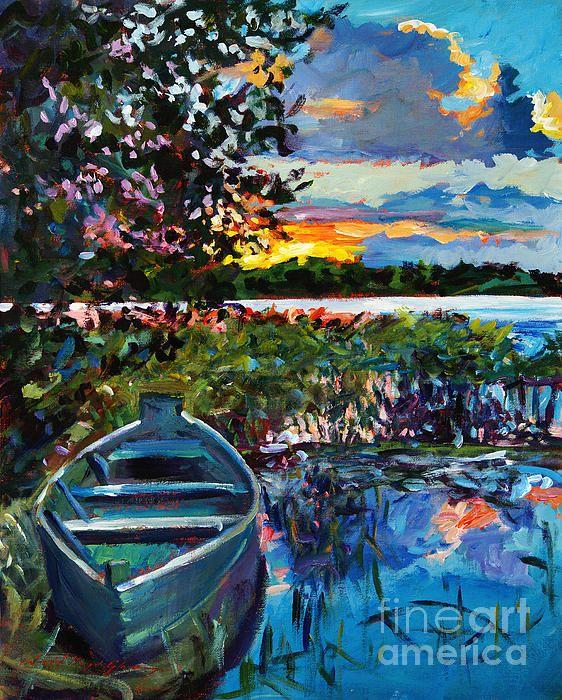 Plein air painting on canvas by artist David Lloyd Glover