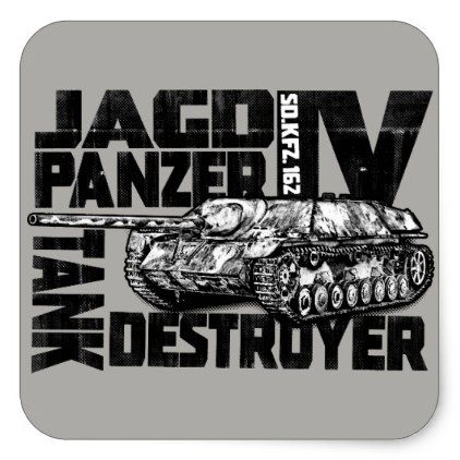 Jagdpanzer IV Square Stickers Sticker - craft supplies diy custom design supply special