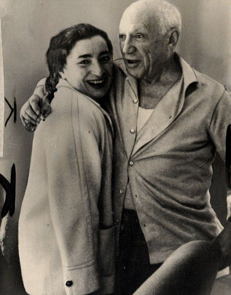 Pablo Picasso pictured with his second wife Jacqueline Picasso. Picasso was a man of many contradictions: often kindly and sensitive, he could also be selfish, tyrannical and domineering