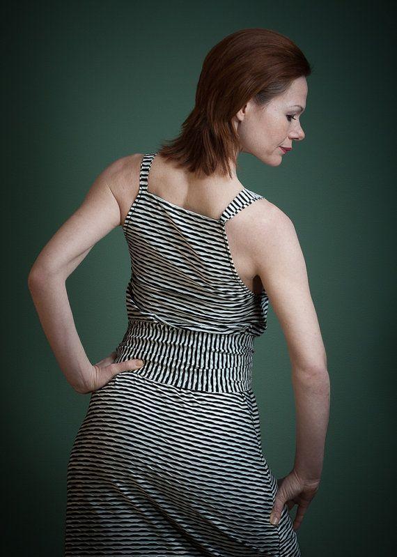 Kleid JolieSommerkleid schwarz weiß von RoteTulpe auf Etsy
