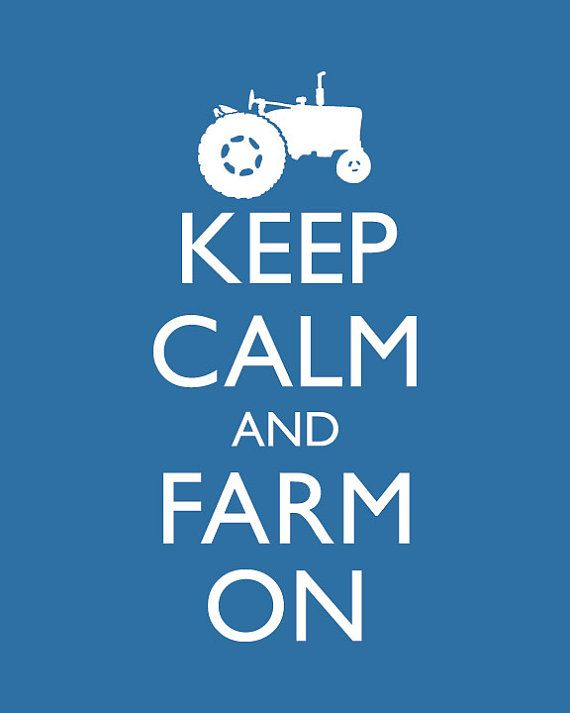 Farming Keep Calm and Carry On Poster Keep Calm door happylandings