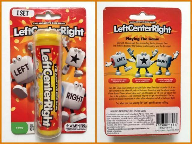 left center right es un juego de dados de corta duracin sencillo y divertido
