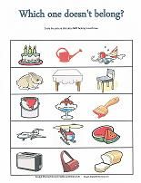 Which one doesn't belong? Free printable worksheets.
