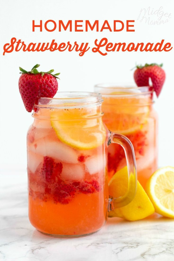 This Easy Homemade Strawberry Lemonade is the perfect refreshing summer drink. M…