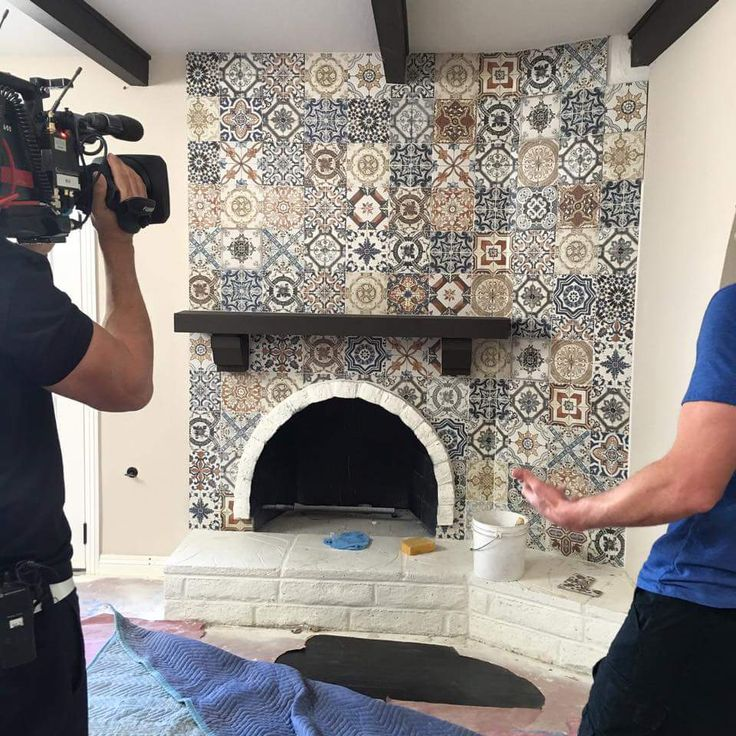 Before Fireplace In 2019 Spanish Tile Kitchen Spanish Style Homes Spanish Home Decor