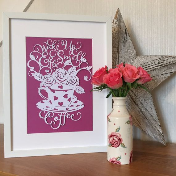 Wake Up & Smell The Coffee Emma Bridgewater Papercut