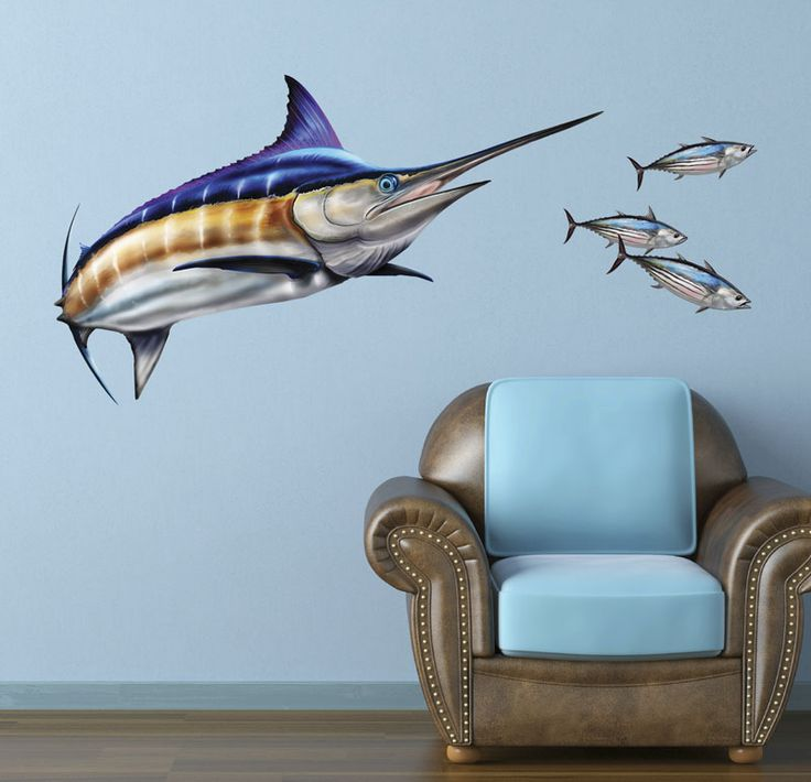 Bold Wall Art Fish Wall Decals Removable Fish Wall Stickers