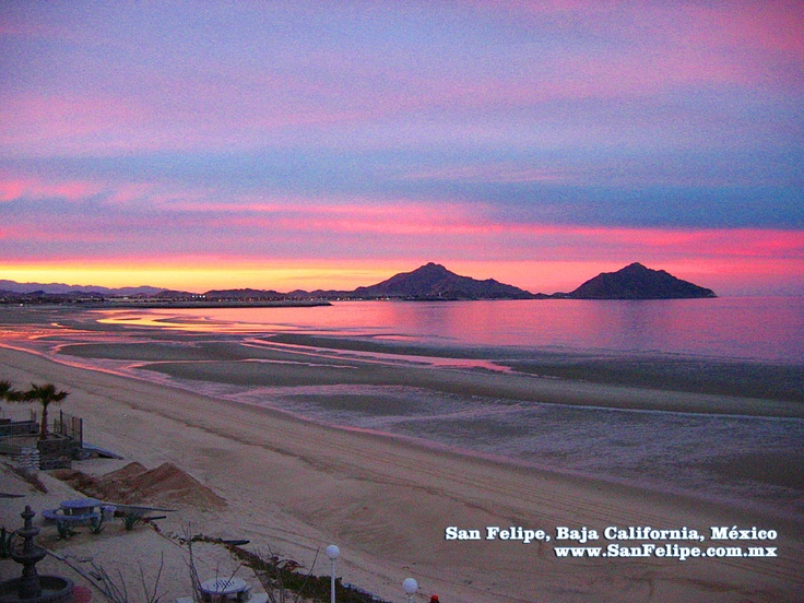 Sunset over San Felipe, Baja California!