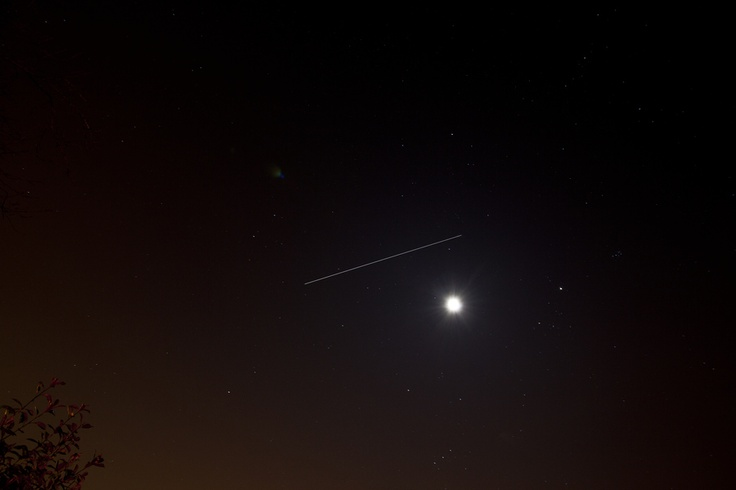 ISS above the Moon over the UK 19/02/13