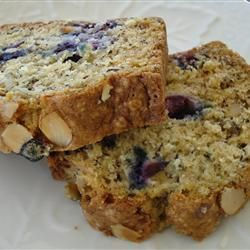 """Favorite Banana Blueberry Quick Bread   """"Traded out the shortening for applesauce and it turned out fabulous."""""""
