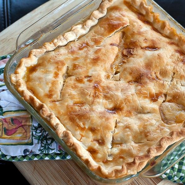 The single pie recipes are generally quiches (which real men do eat), that is, an egg and cheese custard baked in a crust. You can put just about any cooked meat or vegetable into the quiche base, making this an ideal way to use up leftovers.