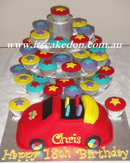 It's Caked On: Chris's Big Red Car Wiggles cake