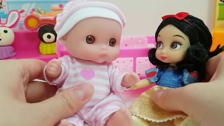 Snow White Princess Doll and Baby Doll Play Toy & 백설공주 인형 소꼽놀이