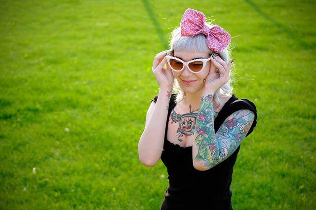 Poznańskie blogi modowe: Darunia - custom lookINK: GLITTER BOW